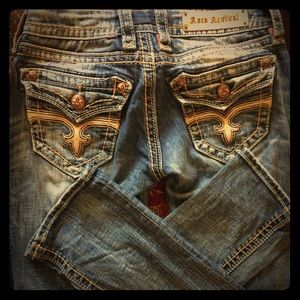 Awesome pair of torn up Rock Revivals